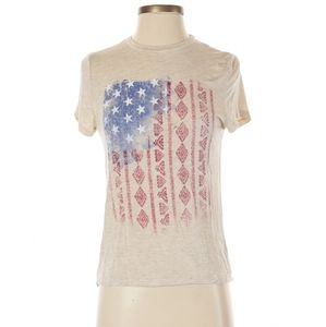 About a Girl American Flag Short Sleeve T Shirt XS